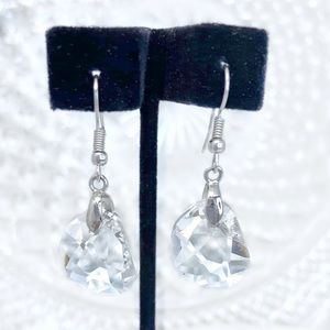 Crystal Chunk Drop Earrings
